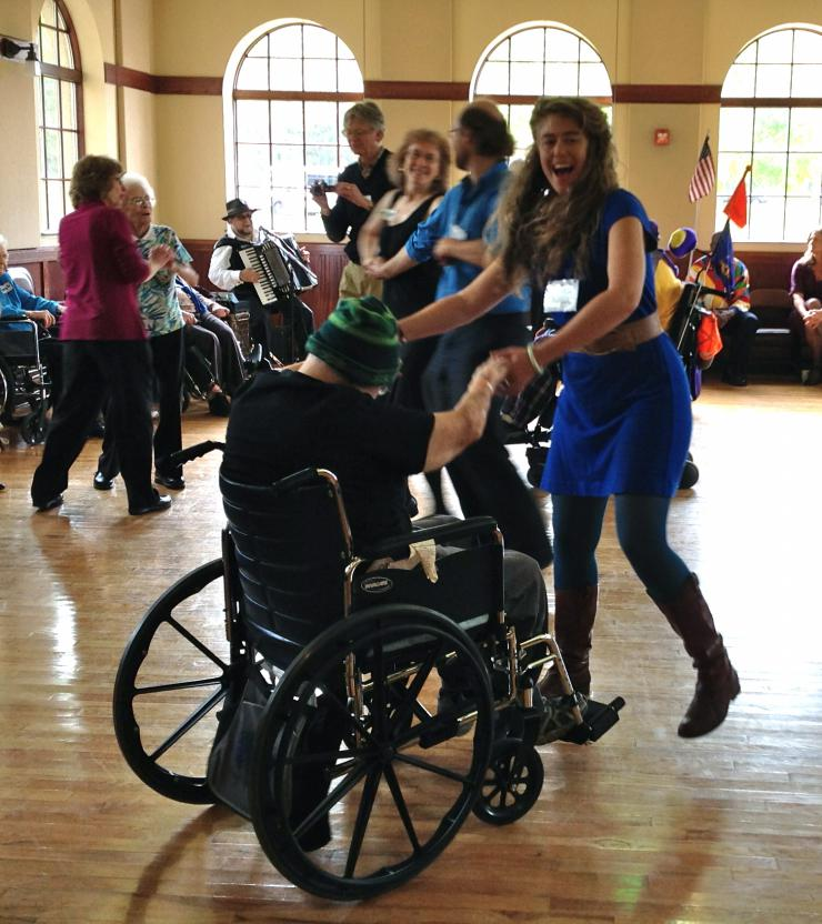 An Intergenerational Dance Hall™ in Detroit Lakes, MN. Photo by Heather Zinger.